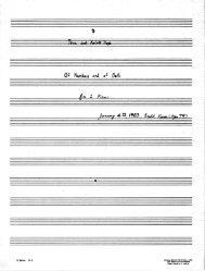 Rosner - Of Numbers and of Bells, op. 79
