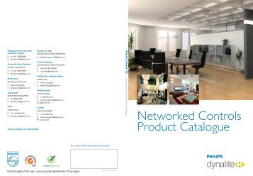 Networked Controls Product Catalogue - Philips
