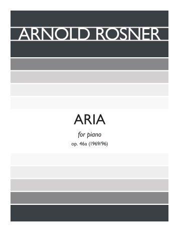 Rosner - Aria, op. 46a