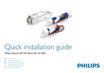 Quick installation guide - Philips