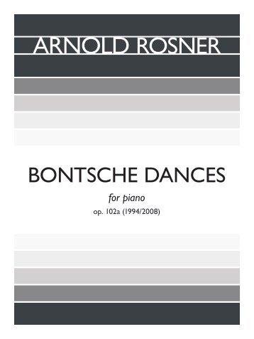 Rosner - Bontsche Dances, op. 102a