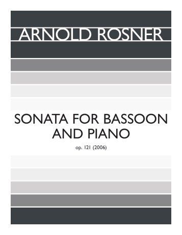 Rosner - Sonata for Bassoon and Piano, op. 121