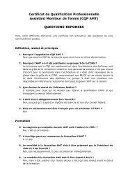 Certificat de Qualification Professionnelle Assistant Moniteur de ...