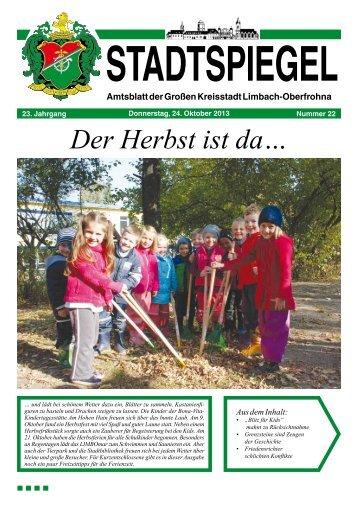 Stadtspiegel 22-13.pdf - Stadt Limbach-Oberfrohna