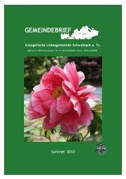 GEMEINDEBRIEF - Evangelische Limesgemeinde Schwalbach am ...