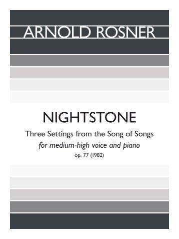 Rosner - Nightstone, op. 73