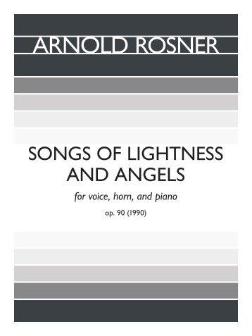 Rosner - Songs of Lightness and Angels, op. 90
