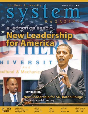 IN THIS ISSUE: - Lincoln University