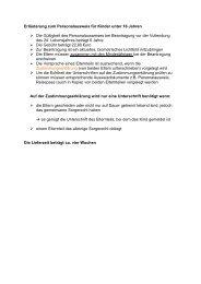 Erläuterung zum Personalausweis für Kinder unter 16 Jahren - Lindau