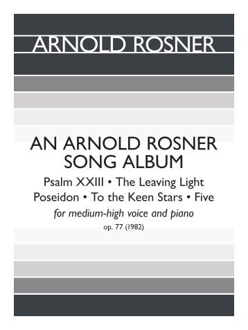 Rosner - An Arnold Rosner Song Album