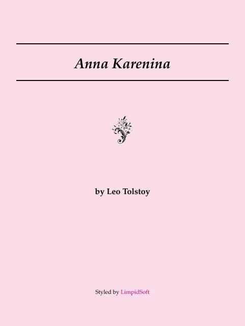 Anna Karenina Limpidsoft