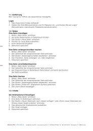 1.1. Einführung Mini Tutorial für TYPO3, die wesentlichen Handgriffe ...