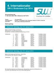 Ausschreibung SwLi-Cup 2013 - TSV 1850 Lindau Schwimmen