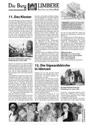 Geschichte der Burg Limbere Teil 6 - Linden entdecken