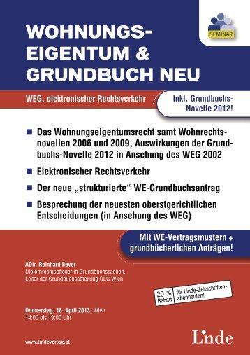 WOHNUNGS- EIGENTUM & GRUNDBUCH NEU - Linde Verlag
