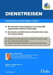 Dienstreise - Linde Verlag