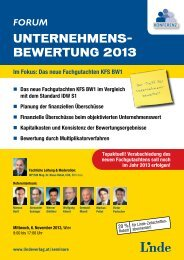 Forum Unternehmensbewertung 2013 - Linde Verlag