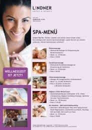 Download Spa-Menü (pdf)