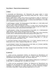 I. BOOKS 1. Kontinuität und Mechanismus. Zur Philosophie des ...