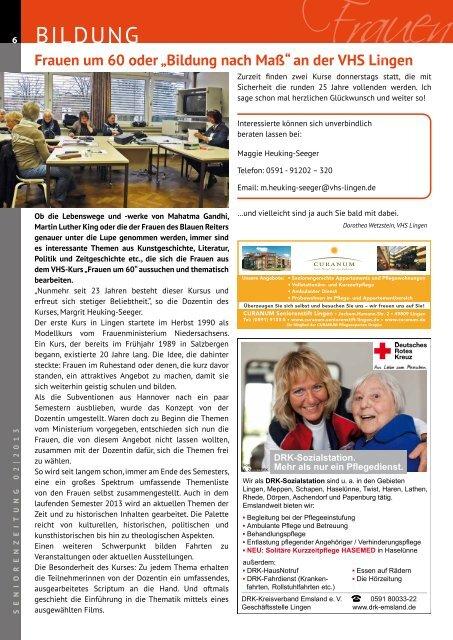 Seniorenzeitung 02/2013 - Stadt Lingen