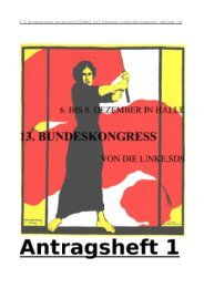 Antragsheft 1 zum Download - Die Linke.SDS