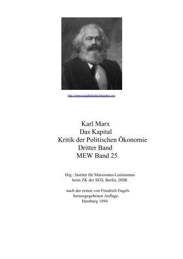 Karl Marx Das Kapital Kritik der Politischen ... - linke-buecher.de