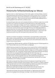 Bericht aus der Ratssitzung vom 17. Juli 2013 - DIE LINKE., Fraktion ...
