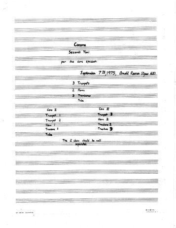 Rosner - Canzona Secundi Toni, op. 63