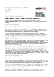 Presseinformation 139 / 2006 - Fraktion DIE LINKE im Sächsischen ...