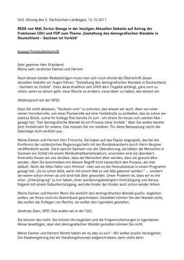 Enrico Stange - Fraktion DIE LINKE im Sächsischen Landtag