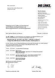 66. Treffen von Vertreterinnen und Vertretern von Bürgerinitiativen ...