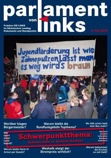 Schwerpunktthema: - Fraktion DIE LINKE im Sächsischen Landtag
