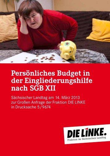 Persönliches Budget in der Eingliederungshilfe nach SGB XII