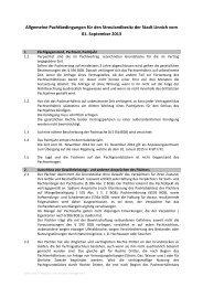 Allgemeine Pachtbedingungen für den ... - Stadt Linnich