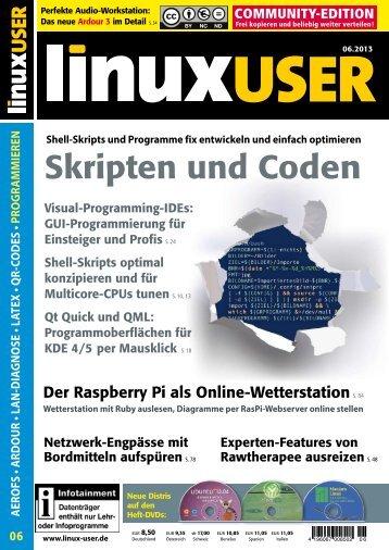Ausgabe 06/2013 jetzt herunterladen - Linux User
