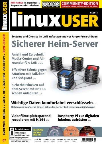 Ausgabe 07/2013 jetzt herunterladen - Linux User