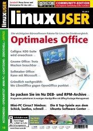 Ausgabe 10/2013 jetzt herunterladen - Linux User