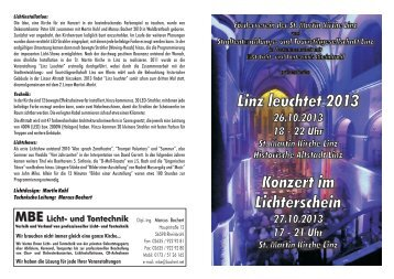 Programm Linz Leuchtet 2013 -...