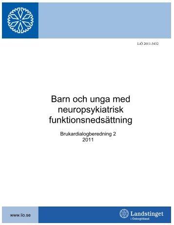 Barn och unga med neuropsykiatrisk funktionsnedsättning
