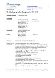 Medicinska programberedningens möte 2006-03-14.