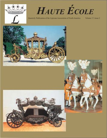 Volume 17, Issue 2 -- Winter 2008 - Lipizzan Association of North ...