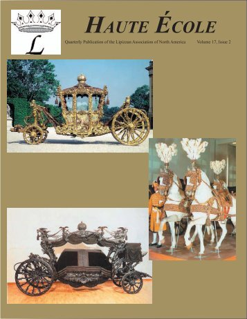 Volume 17, Issue 2 -- Winter 2008 - Lipizzan Association of North ...