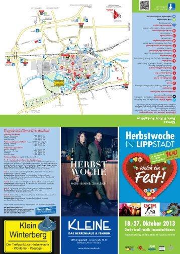 Programmflyer Herbstwoche 2013 - zum Download! - Lippstadt