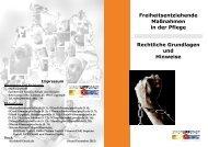 Freiheitsentziehende Maßnahmen in der Pflege ... - Lippstadt
