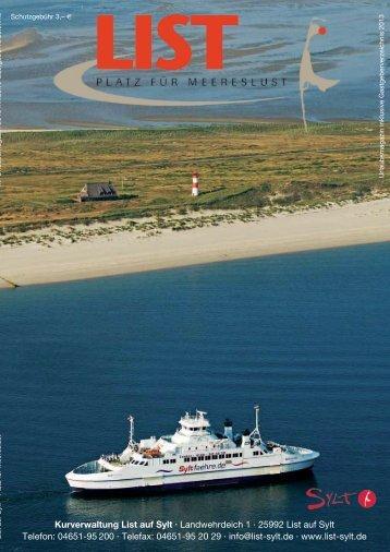 Download gesamter Prospekt 2013 - Nordseebad List auf Sylt