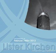 Ausgabe 65 - Februar/März 2013 - Lister Kirchen