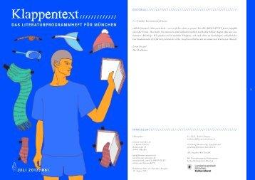 Den Juli-KLAPPENTEXT herunterladen - literatur-muenchen.de