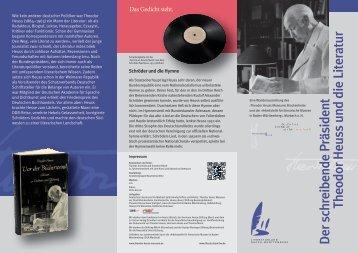 Flyer zur Ausstellung - Literaturland Baden-Württemberg