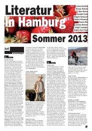 Sommer 2013 - Literatur in Hamburg