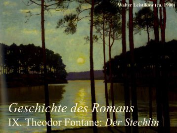 Geschichte des Romans - Literaturwissenschaft-online